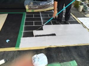 4-3 石畳:塗装2回目②